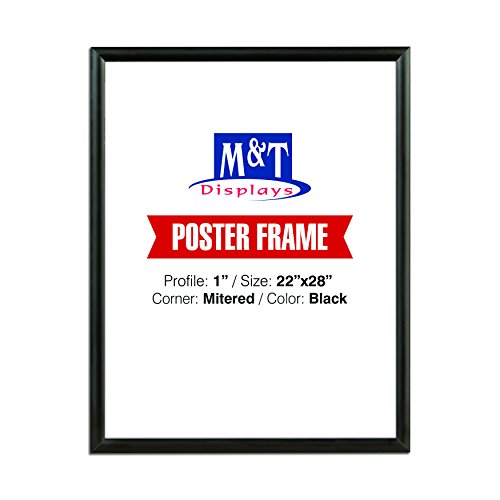 (Snap Frame 22x28 for Wall Mount Use, Easy to Change, 1 inch Profile - (Black) Front Loading)