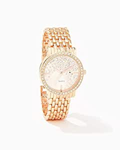 Sparkling Bezel Link Watch - Rose Gold