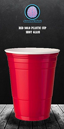 OFFICIAL Red SOLO Cup PREMIUM Shot Glass, 1.5oz Red