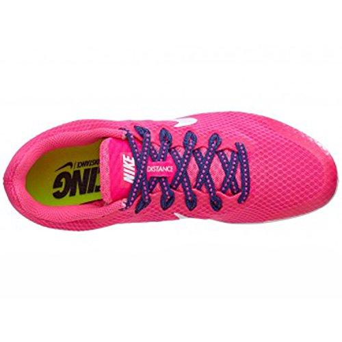 Nike Zoom Rival D Avstånd Spår Spikar Skor Kvinnor Storlek 6 (rosa, Vit Blå)