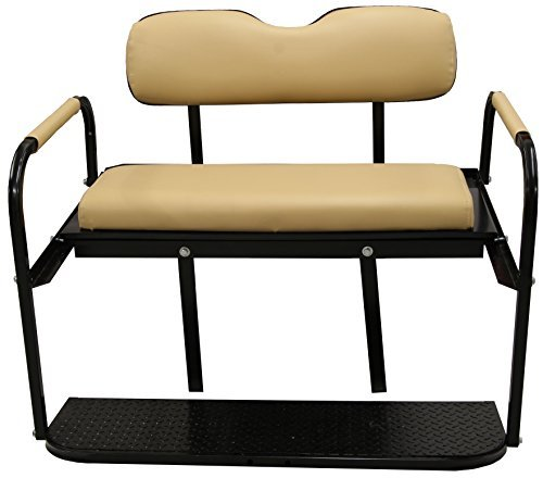 Club Car Precedent (2004 - Up) Golf Cart Rear Flip Seat Kit - Buff (Club Car Back Seat Flip Up)