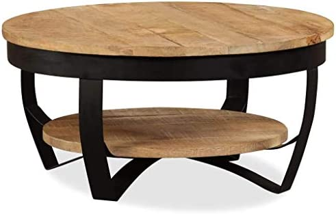 vidaXL Solid Rough Mango Wood Coffee Table Living Room Kitchen Hallway Desk Tea Couch Side Hall Stand End Accent Table Furniture 25.6