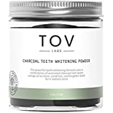 TOV LABS, All Natural, Vegan, Activated Coconut Charcoal Teeth Whitening Powder (4oz = 400+ uses), (Spearmint) Gentle and Effective Stain Removal