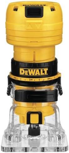 Router DEWALT DWE6000 4.5-Amp Single Speed 1//4-Inch Laminate Trimmer
