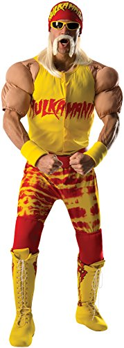 Hulk Hogan Costume Belt (Rubie's Costume Co Men's WWE Hulk Hogan Grand Heritage Costume, Multi, X-Large)