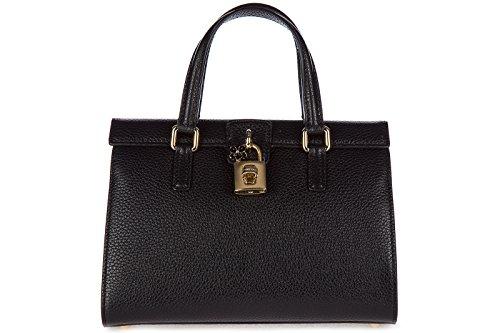 Dolce&Gabbana borsa donna a mano shopping in pelle nuova nero