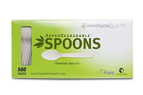 Transitions2earth Biodegradable EcoPure Spoons - Box of 500