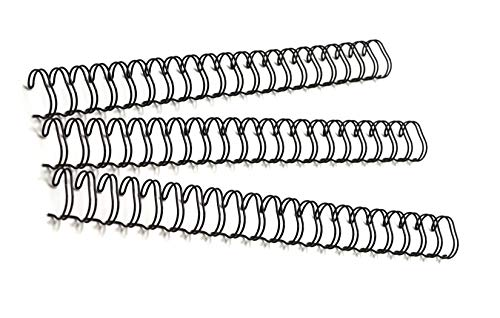 Gbc Binding Wire Elements - Akiles Double Loop Wire Binding Spines 3/16-inch (5mm), 32 Loops 3:1 Pitch (Pk of 100) Black