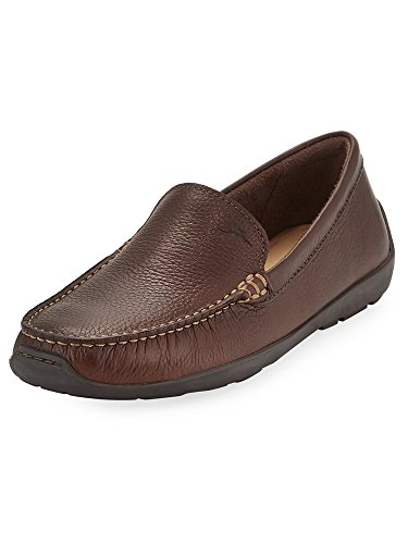 (Tommy Bahama Mens Amalfi Leather Slip-On Loafer (13, Dark Brown))