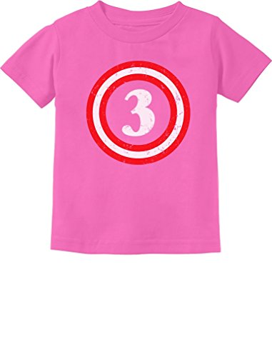 Captain 3rd Birthday - Gift for Three Years Old Toddler/Infant Kids T-Shirt 3T Pink -
