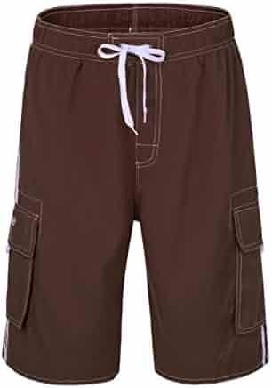 d9c2ca2761 Nonwe Men's Beachwear Board Shorts Quick Dry with Mesh Lining Swim Trunks
