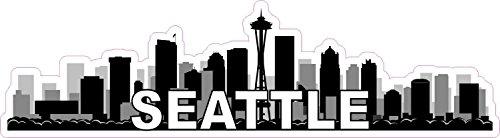 Humorous Bumper Stickers - StickerTalk 10x2.75 Seattle Skyline Sticker Vinyl Vehicle Bumper Stickers Travel Decal