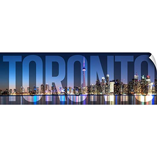 CANVAS ON DEMAND Circle Capture Wall Peel Wall Art Print Entitled Toronto, Transparent Overlay ()
