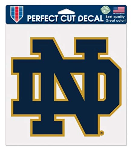 """WinCraft Notre Dame Fighting Irish Logo 8"""" x 8"""" inch Outdoor Color Decal"""