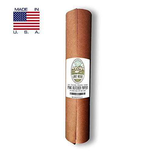 "Pink Butcher Paper Roll 18"" X 200' FEET, Kraft Wrapping Paper for Beef Briskets - Made in USA - FDA Food Grade BBQ Meat Smoking and Cooking Paper - Unbleached Unwaxed Uncoated"