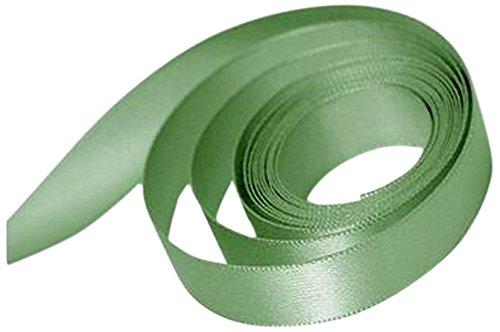 Papillon Ribbon and Bow Single Face Satin Woven Ribbon, Sage Green