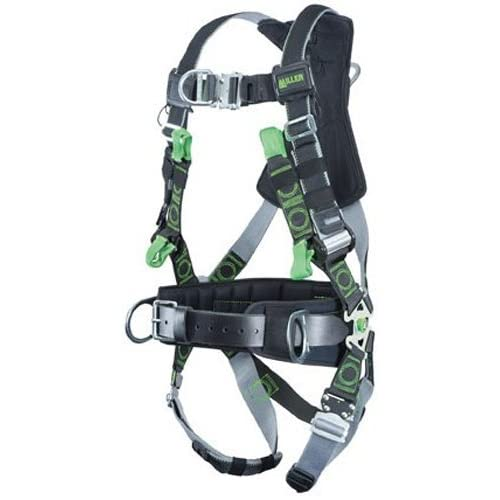Image of Home Improvements Miller RDTSL-QC-BDP/UBK Revolution Harness with DualTech Webbing, Suspension Loop, Removable Belt, Side D-Rings and Pad and Quick-Connect Buckle Legs, Black, Universal Size (Large/XL)