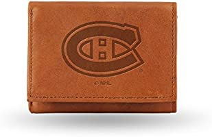 NHL Montreal Canadiens Embossed Genuine Cowhide Leather Trifold