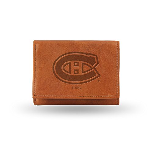 NHL Montreal Canadiens Embossed Genuine Leather Trifold Wallet