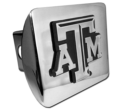 - Texas A&M Aggies Chrome Metal Hitch Cover with Updated ATM
