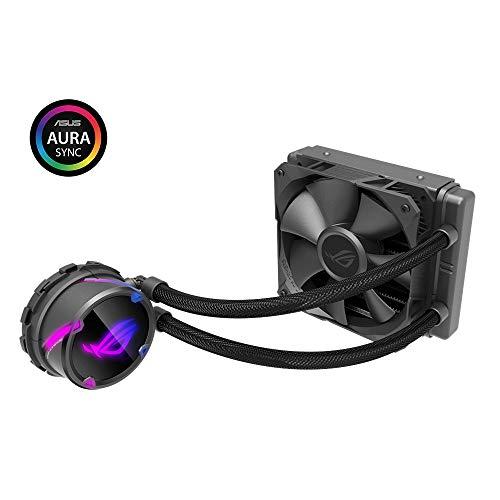 ROG Strix Cooler CPU All-in-one ROG, with addressable RGB Lighting, Aura sync, NCVM Pump Coating and ROG Radiator Fan 1x ROG Fan 120 mm