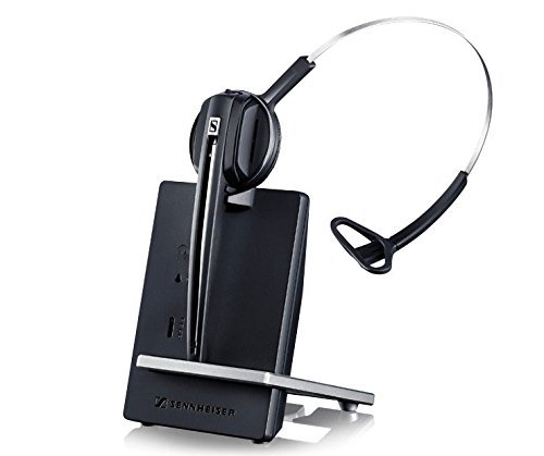 Sennheiser Over The Head Headset - Sennheiser D 10 Phone Headset - Mono - Wireless - DECT 6.0 - 590 ft - 150 Hz - 6.80 kHz - Over-the-head, Over-the-ear - Monaural - Supra-aural - Noise Cancelling Microphone - 506410