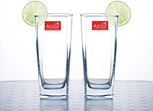 Addox® Crystal Clear Transparent Plaza Water Juice Shakes Moctail Glasses – Set of 6 Price & Reviews