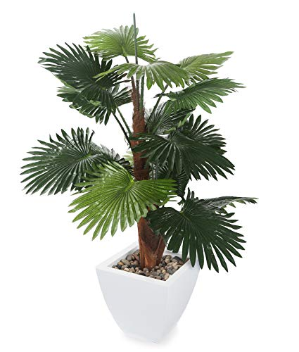 Closer to Nature Artificial 4ft Windmill Fan Palm Tree - Artificial Silk Plant and Tree Range