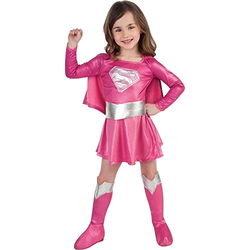 [Child's Pink Supergirl Child's Costume, Small] (Top Five Halloween Costumes)