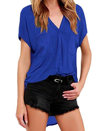 DH-MS Dress Women's Gentle Fawn Bell Solid Blue Top XXL