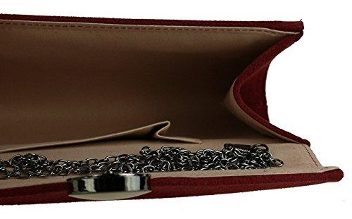 Girly Handbags - Cartera de mano de Material Sintético para mujer granate
