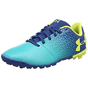 Under Armour Magnetico Select JR Turf Soccer Shoe Teal Punch (300)/Moroccan Blue 4.5