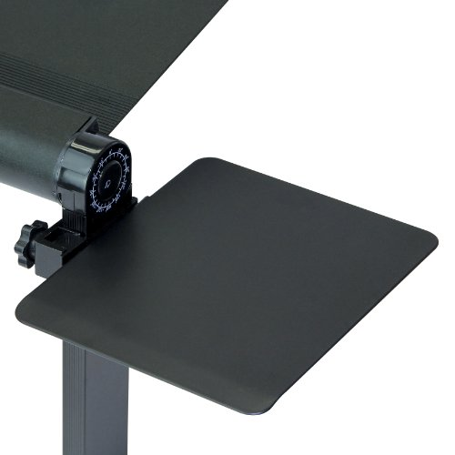 SOJITEK Black Mousepad Attachable to Folding Laptop Notebook Tray Book Stand - DOES NOT INCLUDE LAPTOP STAND