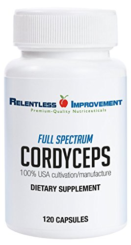Relentless Improvement Cordyceps | NO FILLERS | Full-Spectrum Mycoproduct | 750mg 120 vegecapsules