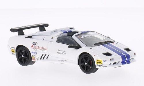 Lamborghini Diablo VT-R Roadster Trofeo , white/blue, 1997, Model Car, Ready-made, WhiteBox -