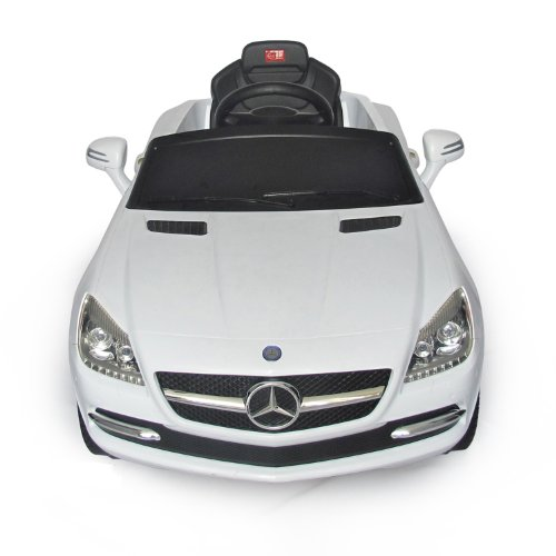 amazoncom mercedes benz slk kids 6v electric ride on toy car w parent remote control white toys games