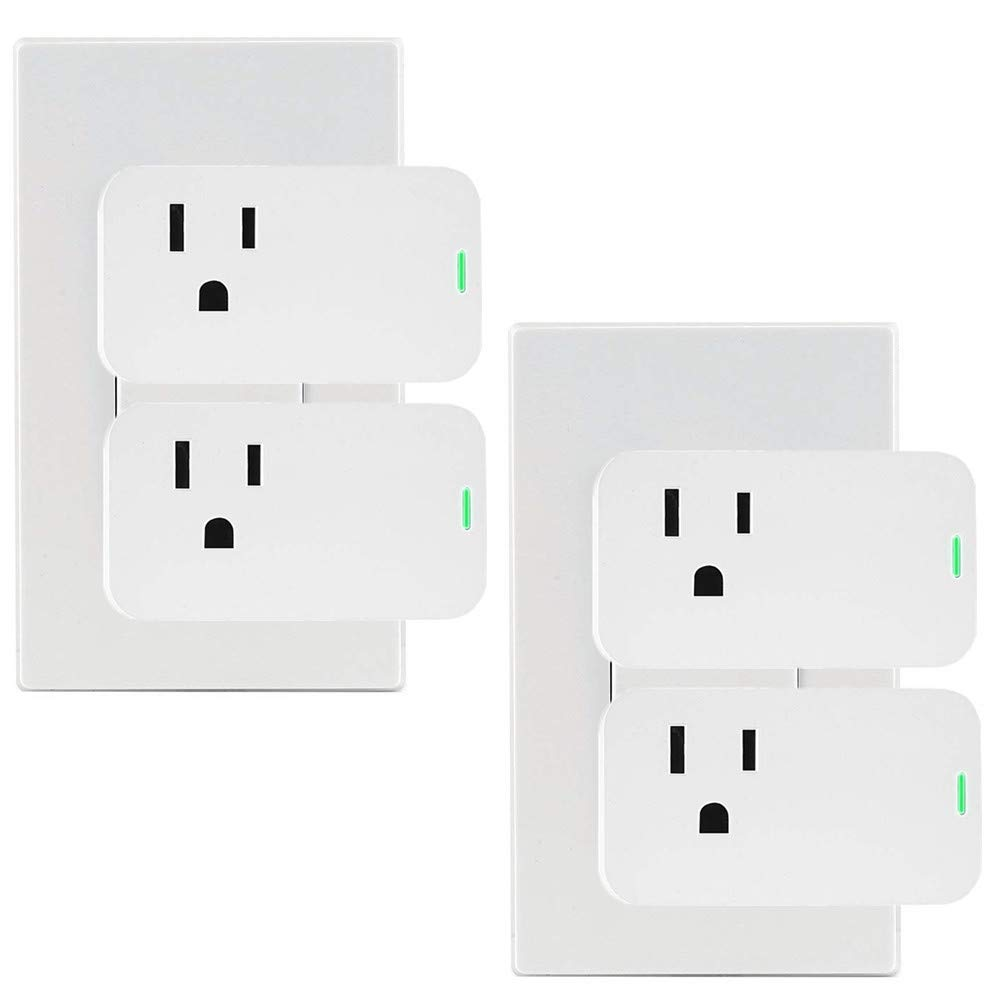 Alexa Mini Smart Plug, OURLINK 10A WiFi Outlet, No Hub Required, Compatible with Alexa and Google Assistant, Control your Devices from Anywhere (4 Pack)