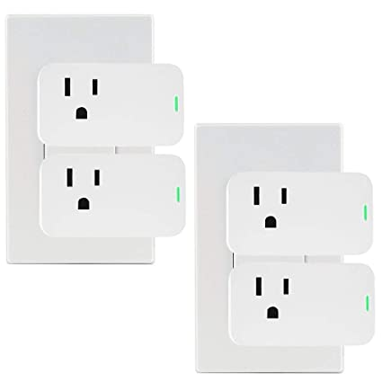 Alexa Mini Smart Plug, OURLINK 10A WiFi Outlet, No Hub Required, Compatible with