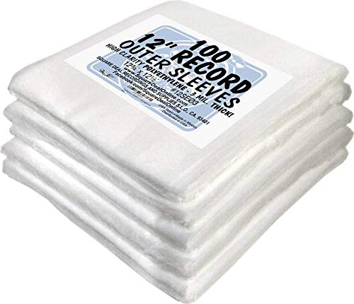 "(500) 12"" Record Outer Sleeves - INDUSTRY STANDARD 3mil Thick Polyethylene - 12 3/4"" x 12 1/2"""