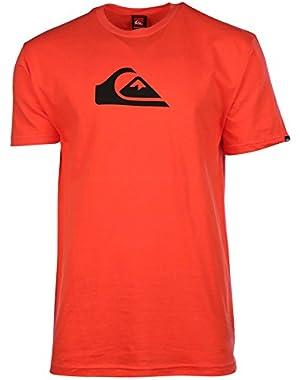 Men's Mountain Wave Graphic T-Shirt-Fire Orange