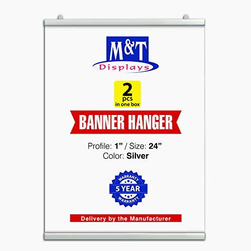 - M&T Displays Newage Poster Clamp Set for 24