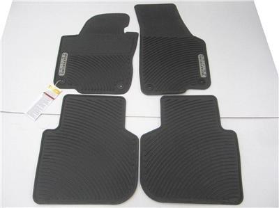 All Weather OEM 12-16 Volkswagen Passat Wolfsburg Black Rubber Floor Mats (Mat Volkswagen Floor Black)