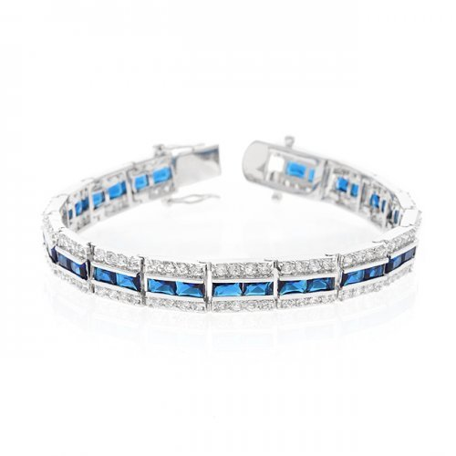 Icon Bijoux B01171R-C30 Balboa Blue Cz Bracelet from Icon Bijoux