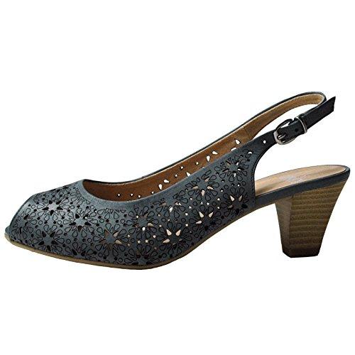 Chaussures Caprice Sandaletten Blue 92831626800, Femme Weite G