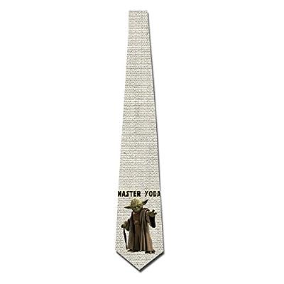 HOTOU Personalized Men's Star Wars Master Yoda Fashion Tie Skinny Neckties
