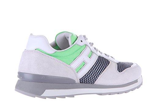 Hogan Rebel chaussures baskets sneakers homme en daim rebel r261 vert