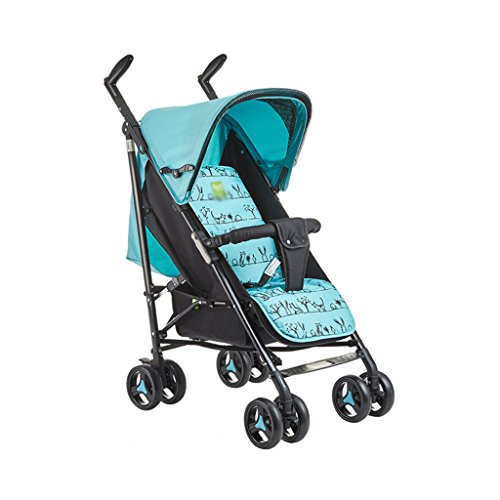 Gai Hua Home Stroller Toys High carbon steel frame can lie baby stroller ultra light umbrella summer and winter dual-use baby cart (Color : Blue-B)