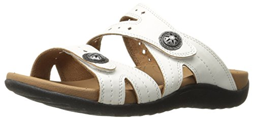 Slide White Women's Ridge Rockport Sandal Button HqgtvwX