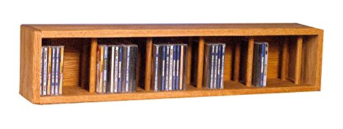 Wood Shed The 103D-3 D Solid Oak CD Storage Cabinet, Dark by Wood Shed