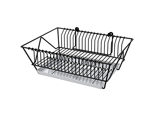Wall Dish Drainer (FINTORP Steel dish drainer,Dish racks Can be hung on the wall 14.75-inch black, galvanised)